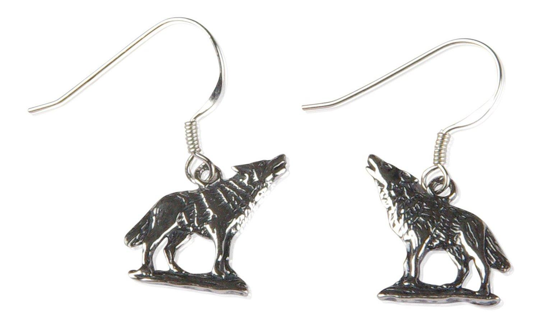 Wolfs Ohrringe aus Sterling Silver