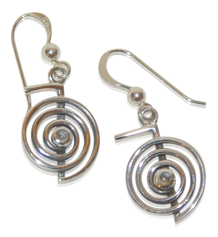 Besondere Ohrringe mit klassisch / besonderen Symbolen aus echtem Sterling Silver (Cho Ku Rei Reiki