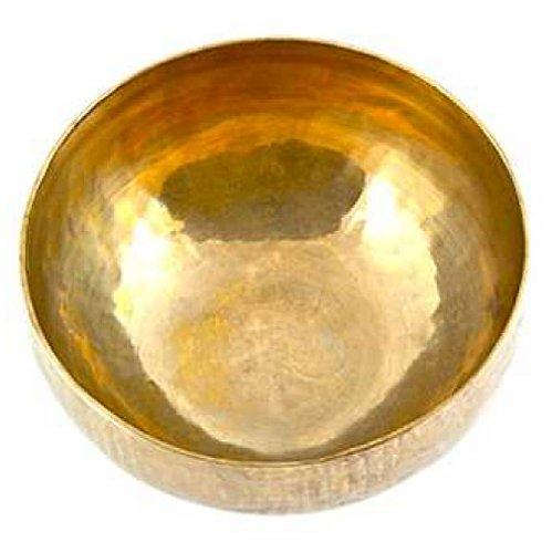 klangschale Singing Bowl Nepal inkl.Kloeppel (6 Inch Tibetisch Hand Hammered Messing)