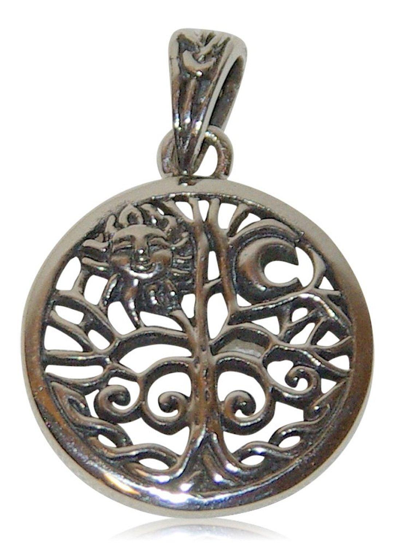 Detailverliebte Symbole und Mytische Figuren als Anhaenger fuer eine Kette aus echtem Sterling Silve