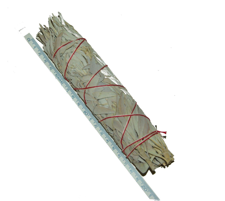 EK_Weißer Salbei Räucherstab XL 18-20 cm (7 Inch Smudge Stick Buffalo Sage) 100% Natur aus Kalifornien